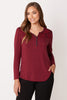 Long Sleeve Henley Top