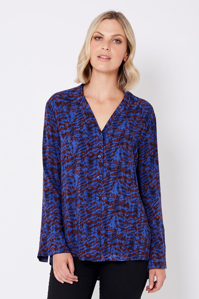 Relaxed Shirt with Bell Sleeves