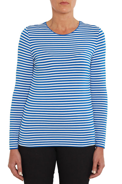 Long Sleeve Crew Neck Stripe Top