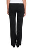Black Leather Trim Long Ponti Pants