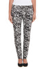 Straight Animal Print Pants