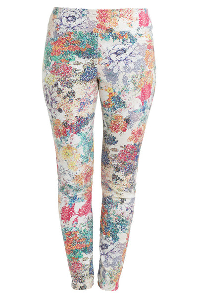 Pixelated Floral Printed Bengajean