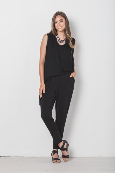 Sheer Overlay Jumpsuit