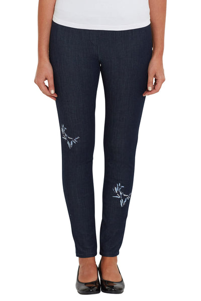 Embroidered Skinny Leg Bengajean