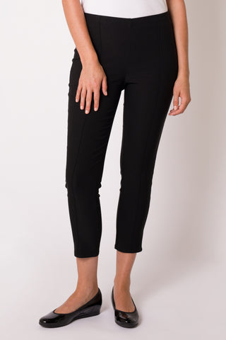 Black Slim Leg 7/8 Seamed Pant
