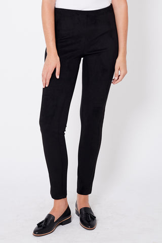 Faux Suede Panelled Legging