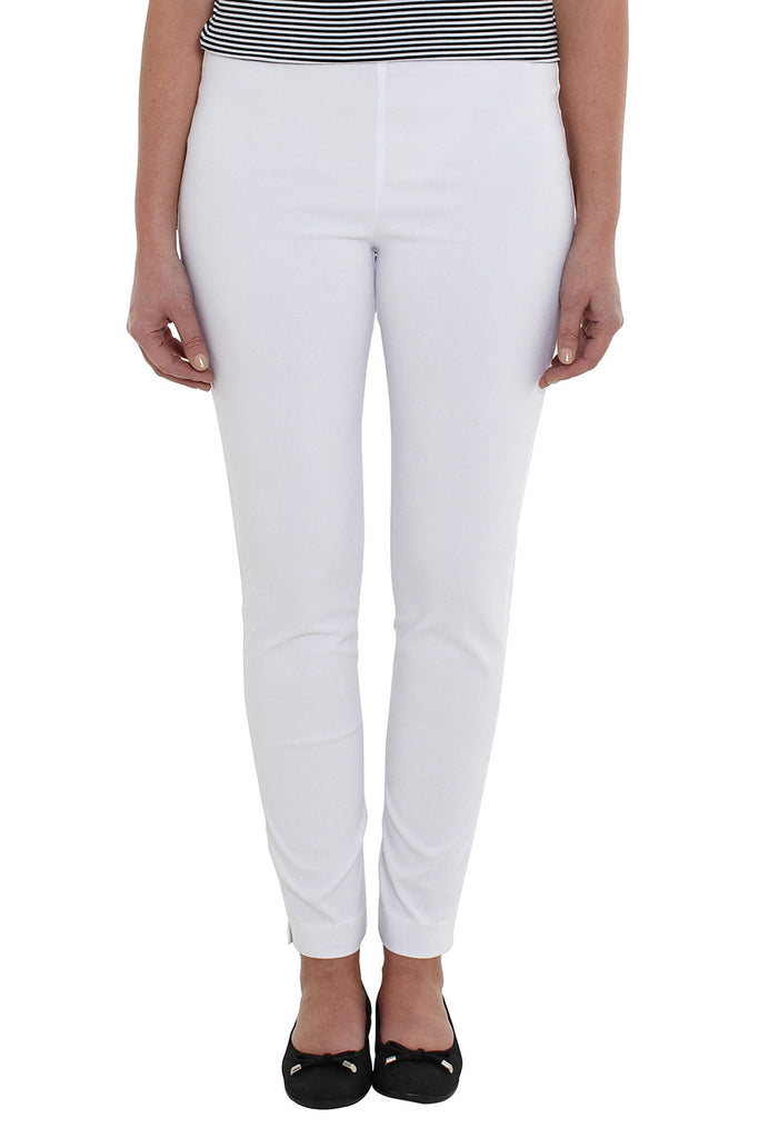 White Long Pull on Pants