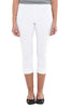 White Cropped Pull On Pant