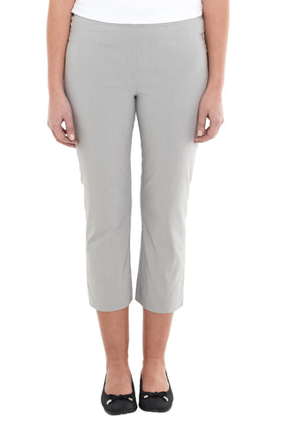 Silver Cropped Pull On Pant