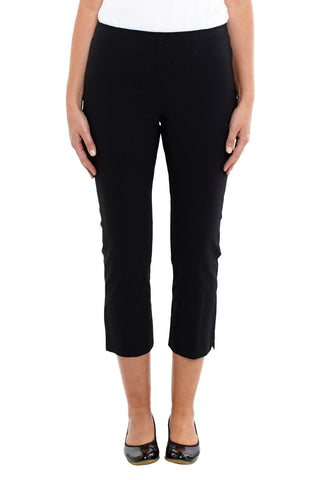 Black Cropped Pull On Pant