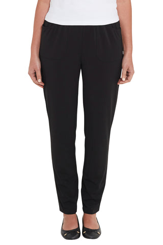 Black Tapered Long Pants