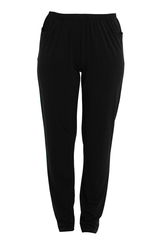 Black Tapered Long Pant
