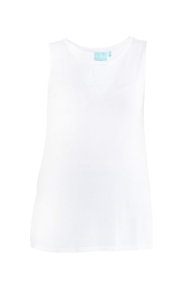 White Swing Split Top