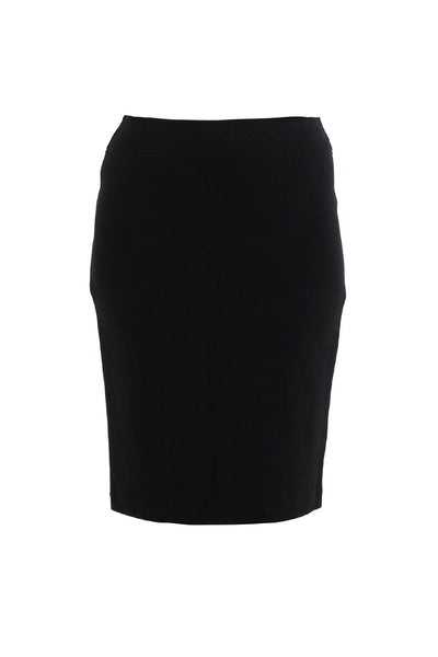Black Ponti Pencil Skirt