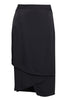 Black Drape Wrap Skirt