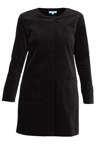Black Cord Duster Coat