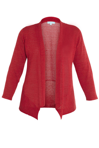 Firdbird Red 3/4 Sleeve Swing Hem Knit