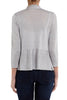 Grey Heather 3/4 Sleeve Swing Hem Knit