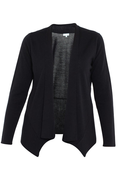 Black Long Sleeve Swing Hem Knit