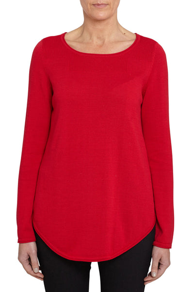 Rouge Scoop Hem Knit