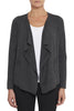 Charcoal Marle Cross Drape Cardi