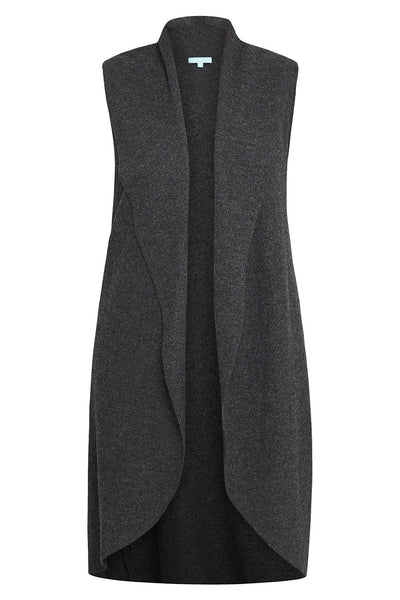 Charcoal Marle Boiled Wool Vest