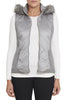Stone Grey Faux Fur Vest