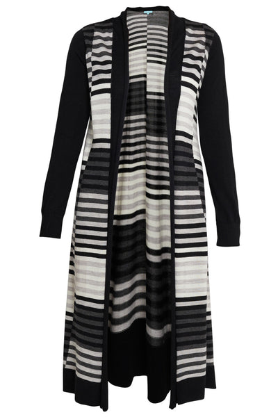 Striped Long Line Knit