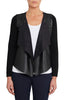 Black Faux Leather Cardi