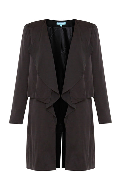 Black Long Split Jacket