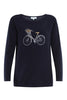 Bike Print High Low Knit