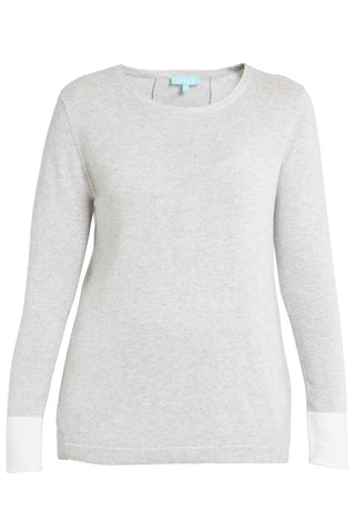 Cotton Cashmere Split Back Knit