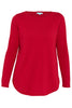 Rouge Scoop Hem Christmas Knit