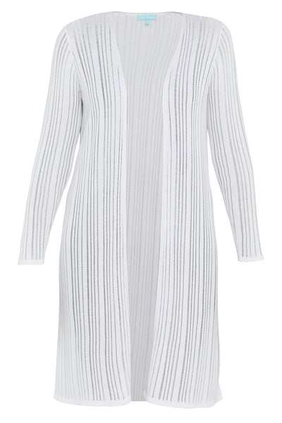 White Tencel Long Line Knit