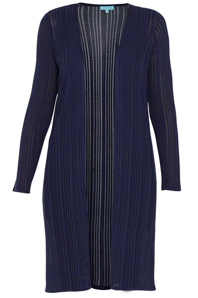 Navy Tencel Long Line Knit