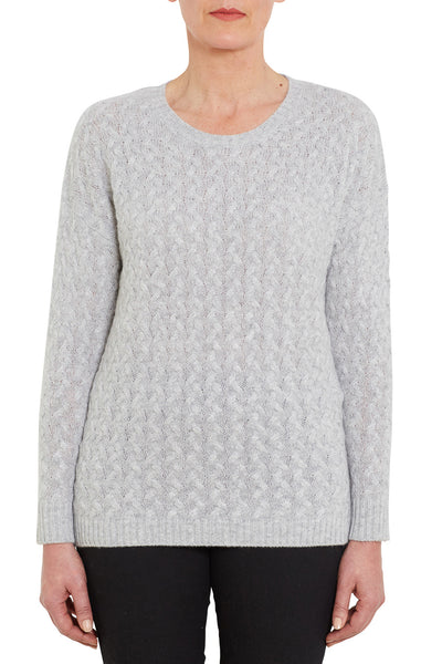 Frost Cashmere Cable Knit