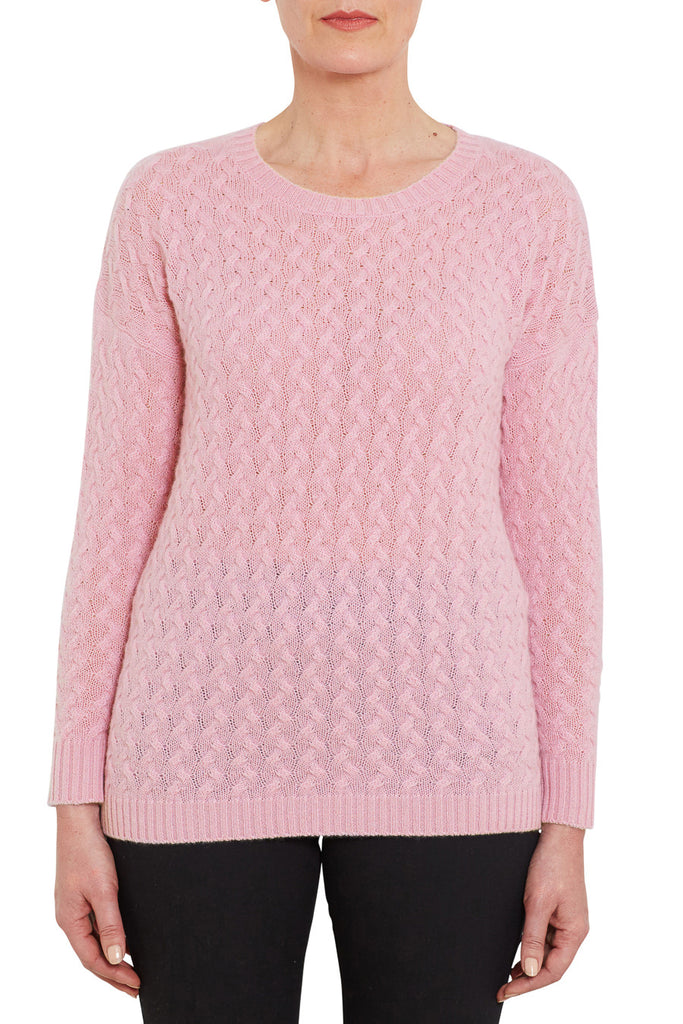 Winter Blossom Cashmere Cable Knit