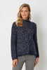 Swing Hem High Neck Knit
