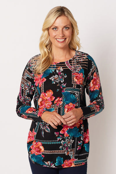 Burnout Print Top