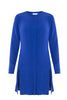 Electric Blue Side Split Tunic