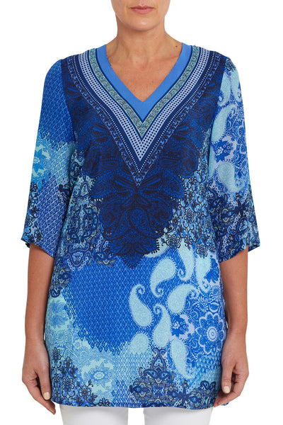 Placement Print Kaftan