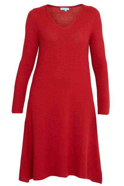 Raspberry Merino Knitted Dress