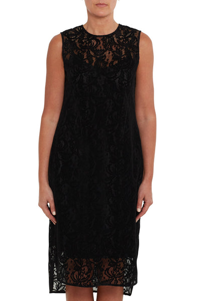 Velvet Lace Evening Dress