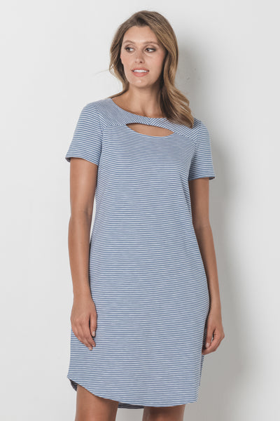 Spliced T-Shirt Dress