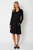Cowl Neck Textured Dress