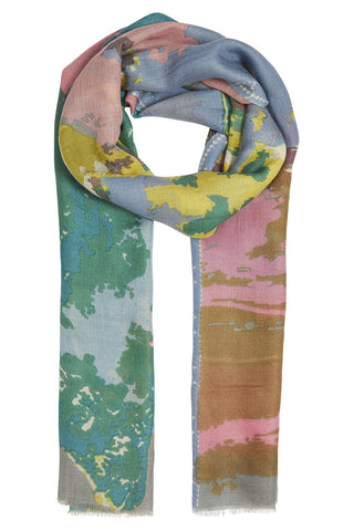 Alaia Green & Pink Paint Scarf