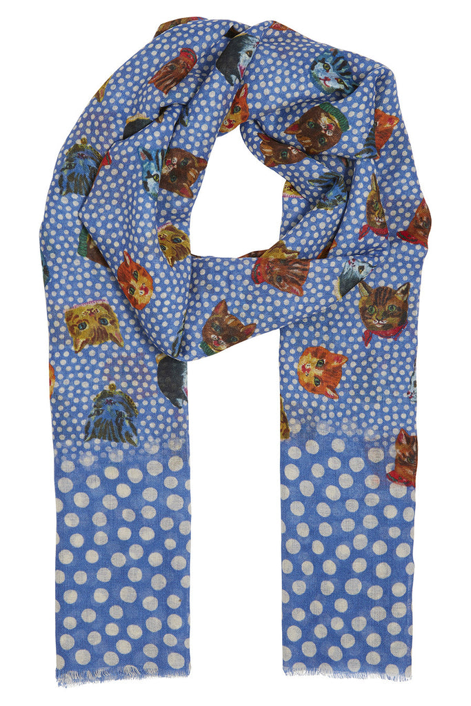 Nathalie Lete Cat Dots Scarf