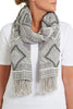 Afina Grey Beaded Scarf