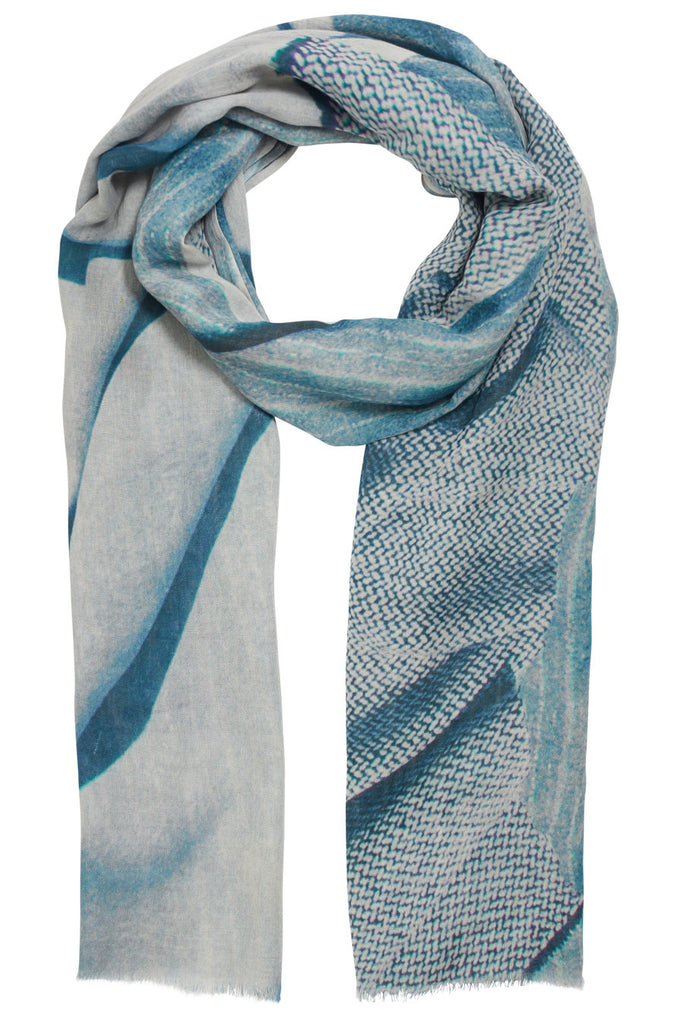 Angela Blue Waves Scarf