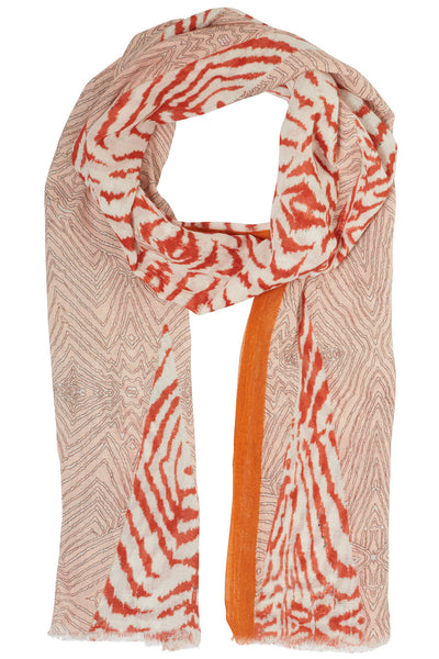Sammie Orange Zebra Scarf